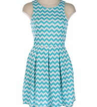 Cheveron Print Pleated Ponti Dress by CutiePunke on Etsy, $149.00