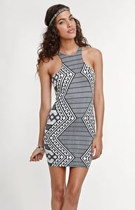bodycon #tribal #print dress Get 5% Cash Back http://studentrate.com/itp/get-itp-student-deals/Pacsun-Student-Discount--/0