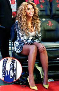 Covet: Beyonce's Stella McCartney Frazier flower-print blazer, $1,695. Love it: Vice Camuto floral print blazer, $169