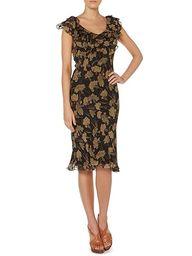 Team this silk dress