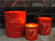 Upcycled Tin Can Lantern Set by hpammi36 on Etsy, $17.50