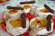 Lemon meringue nests