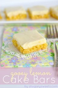 Gooey Lemon Cake Bar