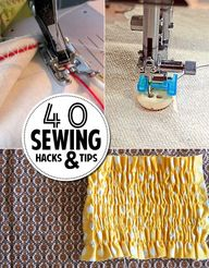 40 sewing hacks & ti