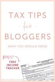Blogging Tax Tips an