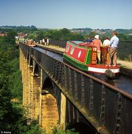 Narrowboat along the