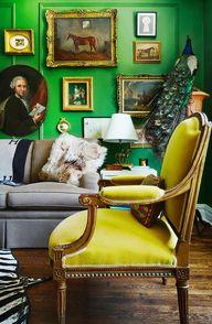 Mustard mohair chair