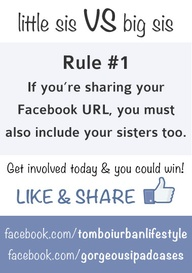 Rule #1: If you're sharing your Facebook URL, you must also include your sister's too.