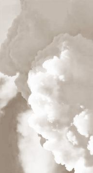 fluffy white clouds.