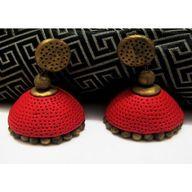 Red terracotta earin