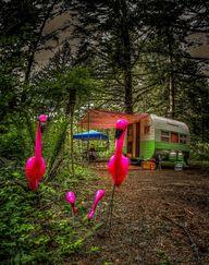 Vintage caravan and