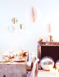 pastel holiday decor