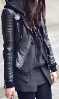 Black layers + leath
