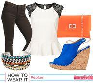 How To Wear It: Peplum Waist