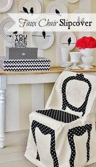 DIY Faux Chair Slipc