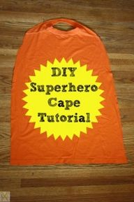 DIY Superhero Cape f