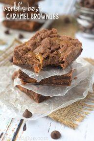 caramel brownies.