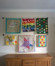 quilt gallery wall -