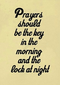 Prayers should be th