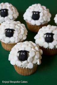 Sheep Cupcakes by En