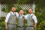 Gray groomsmen attir