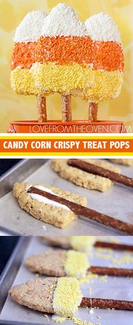 Candy Corn Krispy Tr