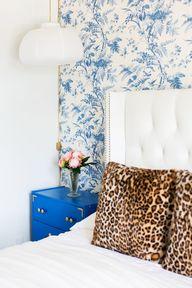 leopard + blue