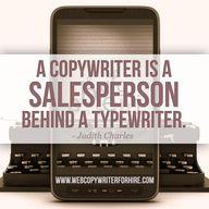 """A copywriter is a s"