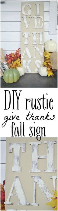 DIY rustic fall sign