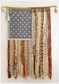 Lace American flag