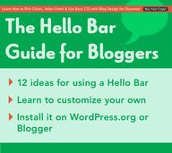 The Hello Bar Guide...