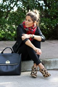 plaid + leopard