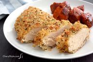 Baked quinoa-crusted