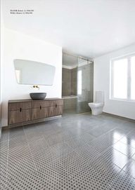 Patterned bathroom t...