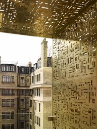 lasercut brass panel...
