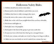 Halloween Safety Rul