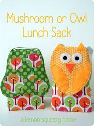 Mushroom or Owl lunc