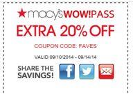 Macy's: New Extra 20