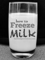 How to Freeze Milk v