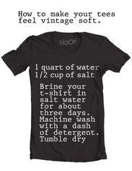 Brining your t-shirt