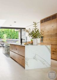 timber kitchen with
