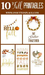 10 Fall Printables |