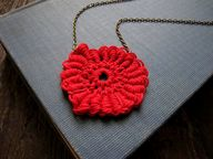 red coiled medallion
