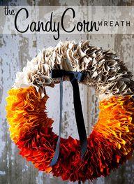 candy corn wreath fr