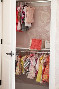 Wallpapered Closet i