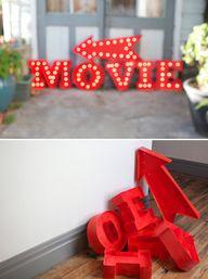 DIY: vintage marquee
