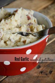Red garlic mashed po