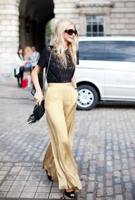 gold pants!!