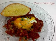 Baked Eggs in a Spic