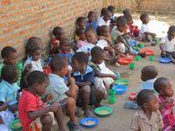 Children waiting at